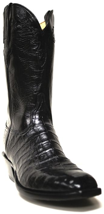 Formal Feet: How to Wear Dress Cowboy Boots | Any occasion is appropriate for wearing cowboy boots, right? But there are certain rules when it comes to dressing up with boots and formal wear. | Featured Product: Lucchese Men's Ultra Black Belly Caiman Cowboy Boots | blog.southtexastack.com
