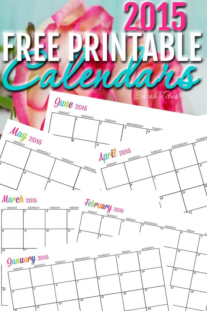 Free 2015 Printable Calendars - Completely editable online!!! Use