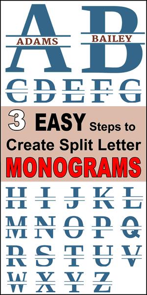 Free Split Letter Stencil Font Monogram Maker Monogram Maker Cricut Monogram Free Monogram Fonts