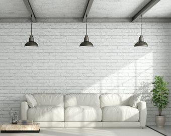 White Brick Self Adhesive Wallpaper Removable Wall Mural Vintage