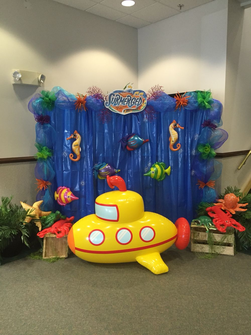 Photo Wall for Submerged VBS at FBC Sevierville, TN