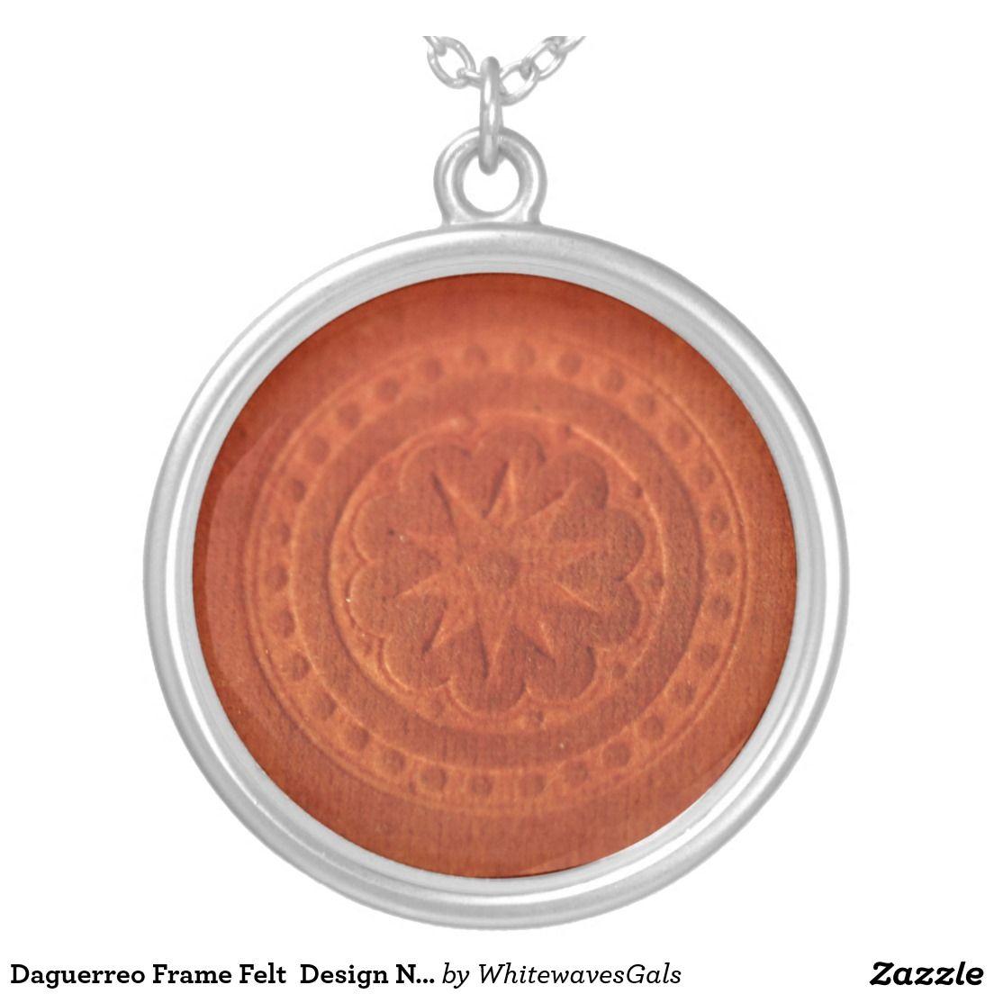 Sentimental Wedding Gift Ideas: Daguerreo Frame Felt Design Necklace