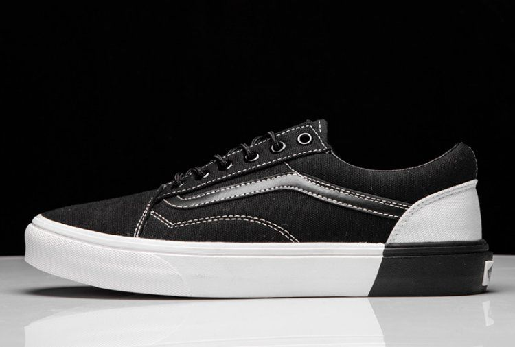 fc985a511f Vans Blocked Old Skool DX U Black White Tonal Stitching Skate Shoe  Vans