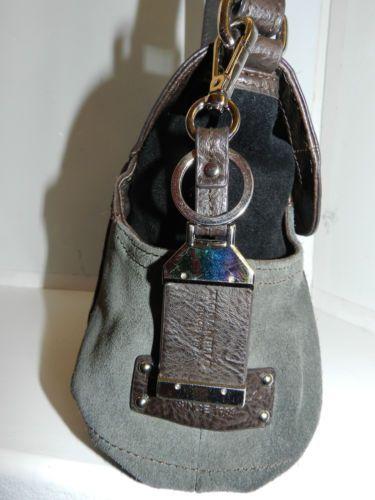 Tignanello-Bolso-con-solapa-Cruz-estilo-de-cuerpo-Edredon-brown-gray-suede-leather