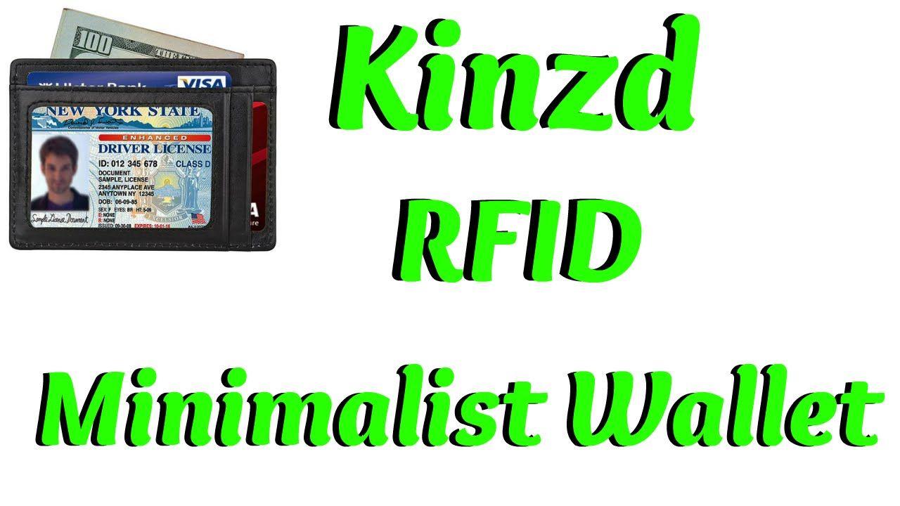 KINZD RFID Blocking Minimalist Wallet