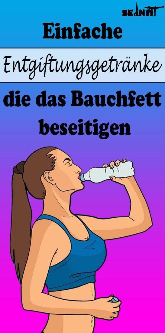 Einfache Entgiftungsgetränke, die das Bauchfett beseitigen - Fitness trainingsplan - #Bauchfett #bes...