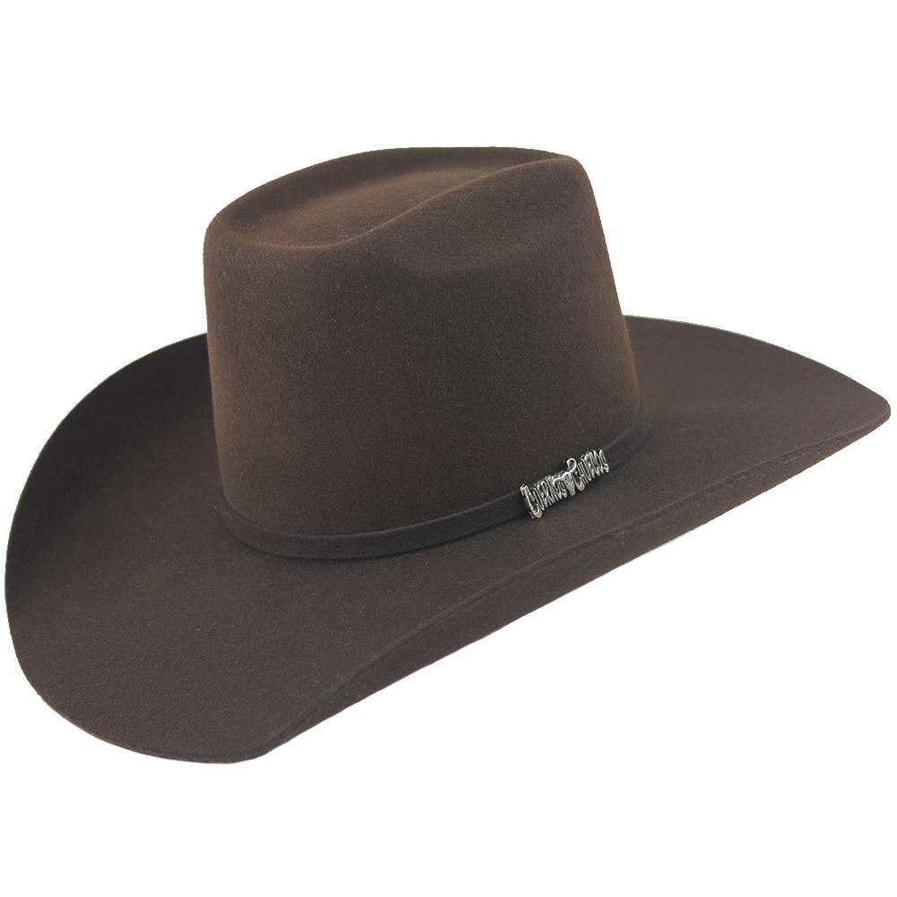 aa7c62e6f5891 Cuernos Chuecos Chocolate 6X Brick Crown Felt Hat en 2019