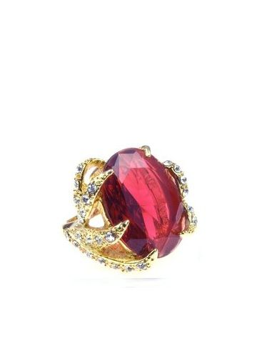Statement Ruby Crystal Ring