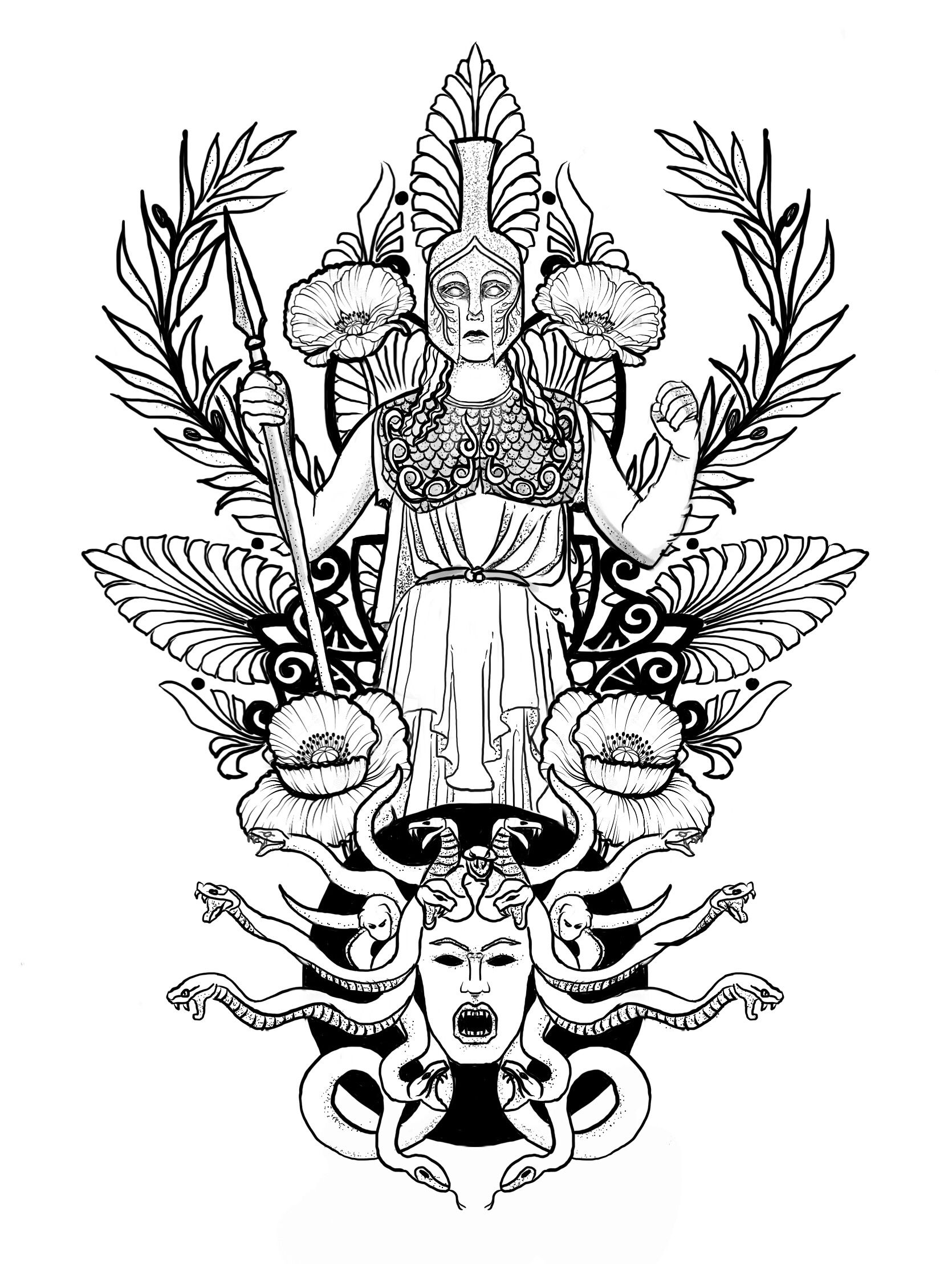 Tattoo Design Athena Tattoo Reference For Shelby Pinterest