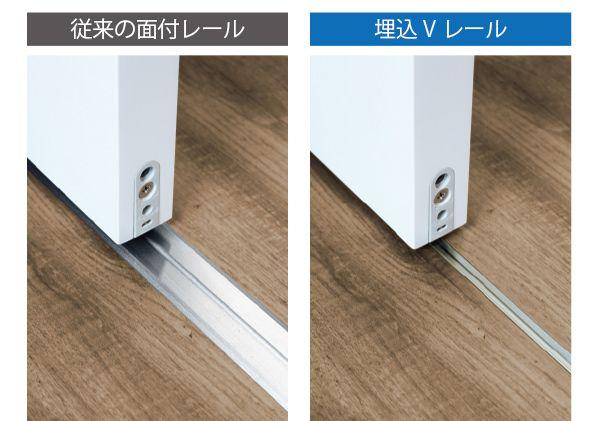 床付けレールなのにスッキリ シンプル 床付け引き戸をよりフラット