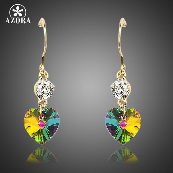 Stellux Austrian Crystal Heart Drop Earrings