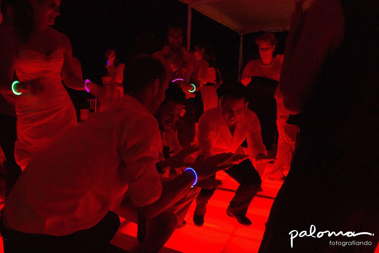 Fiesta,Boda, pachanga, rojo, pulseras brillantes