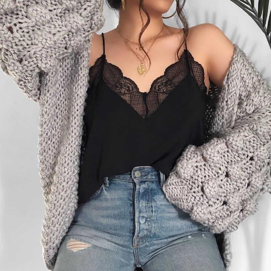 best camis under $10, black lace trim cami mesh lace tank top spaghetti strap v neck camisoles deep plunge cami top classic undershirts best wardrobe essentials for fall fashion#cami #essentials #tank #camisole #blacklace #undershirt #fallfashionurban