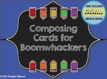 Freebie! Printable composing cards for singing or Boomwhackers ...