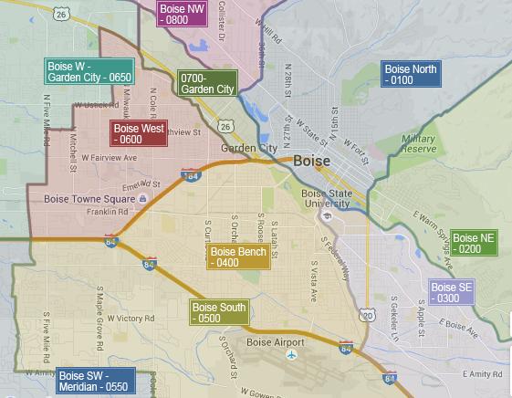 Boise Neighborhoods Map Visit Idaho Boise Idaho Boise