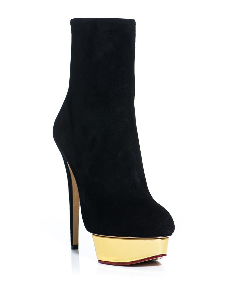 Charlotte Olympia Suede Ankle Boots gDnUTCiuct