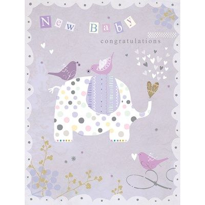 New Baby Luxury Card by Hilary Yafai | Whistlefish Galleries