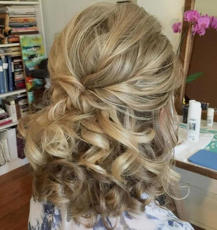 Wedding Hairstyle Ringlets: #21: Not-So-Messy Half Up Hairdo With Its Cute Ringlets