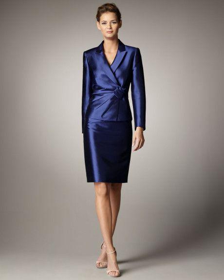 93f82036b1cf Tahari Suits On Sale | Tahari Rosette-detail Suit in Blue (indigo)
