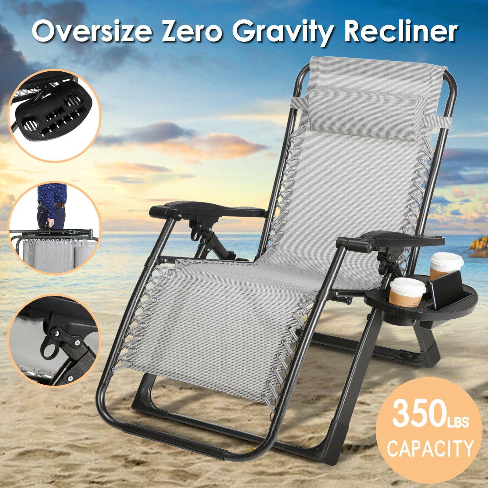 Extra large zero gravity chair folding lounge heavy duty