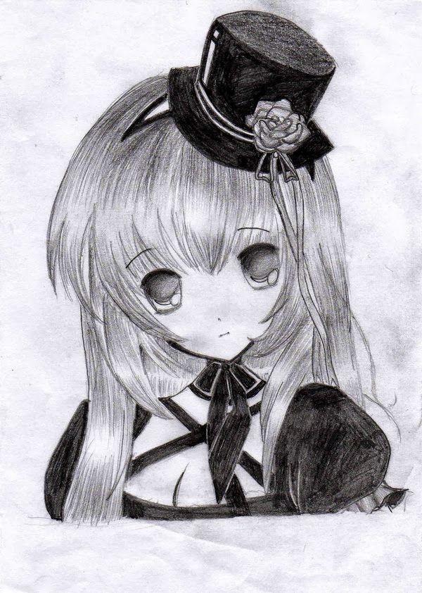 Lindos dibujos de animes a lápiz para descargar gratis