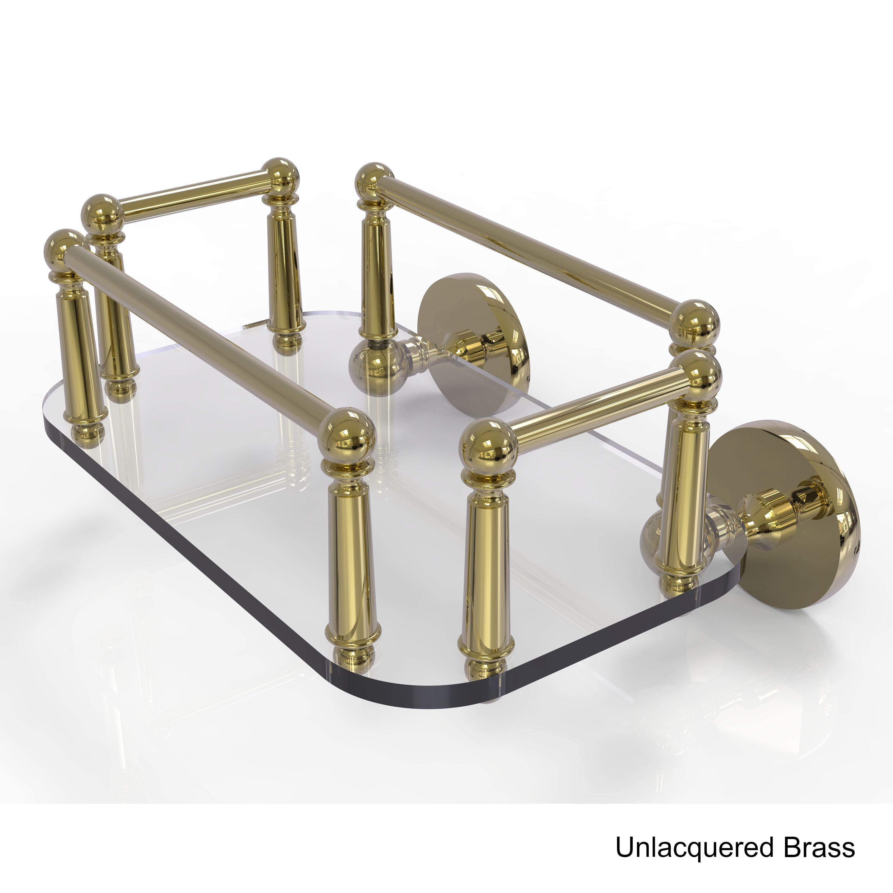 Allied Brass Prestige Skyline Collection Wall Mounted Glass Guest Towel Tray (