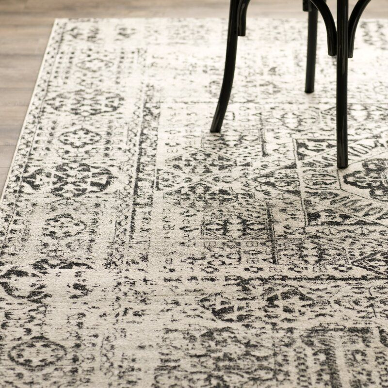 White Brick Baldwin Park S Design: Baldwin Park Power Loomed Ivory/Black Area Rug In 2020