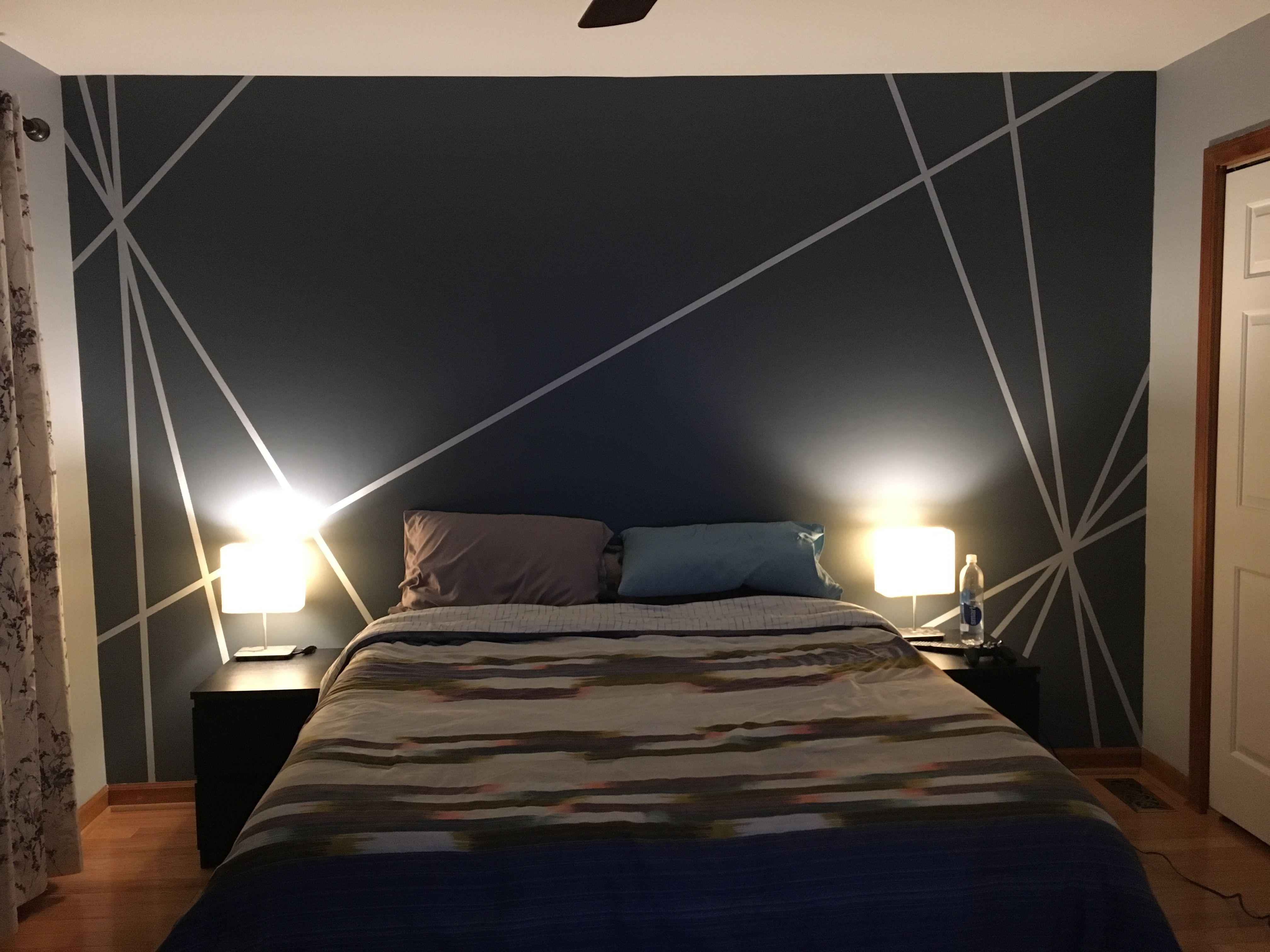 accentwall #wallart #walldesign  Déco chambre parentale moderne
