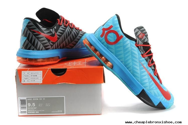 0e5f76634c9e Cheap 626368-466 Aqua Blue Pink Red Black N7 Nike Zoom KD 6