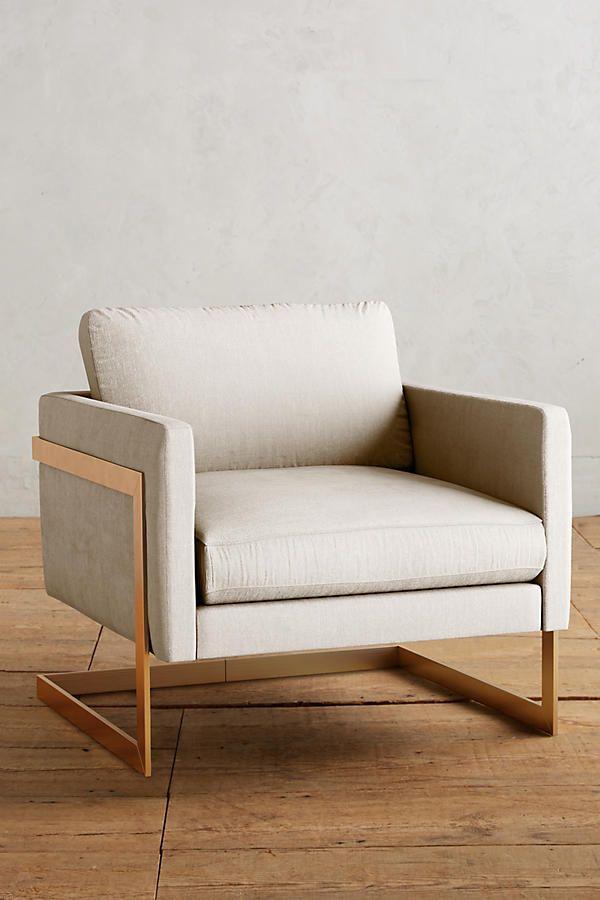 Slide View 1 Belgian Linen Meredith Chair Unique Living Room