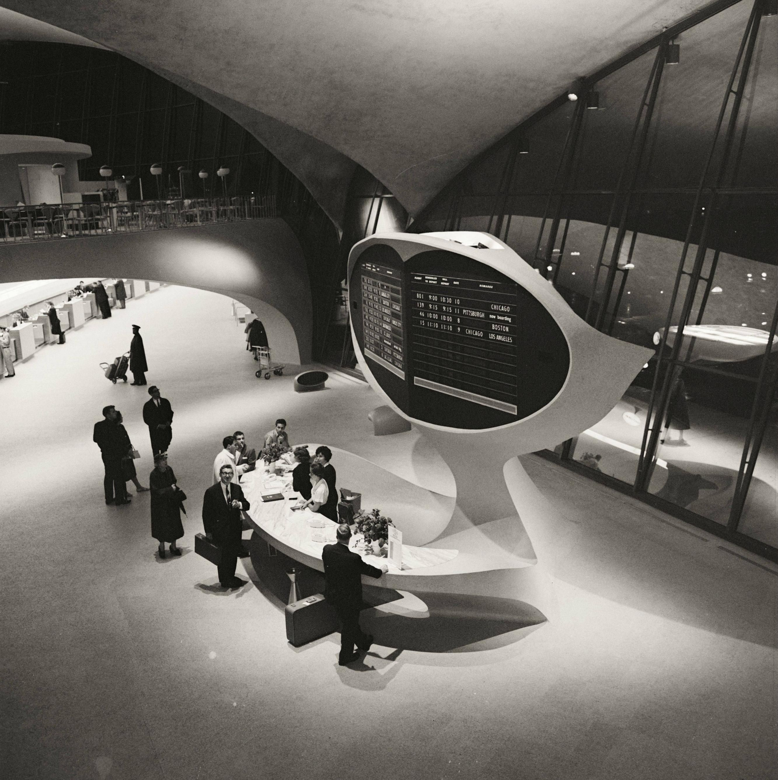 Trans World Airline TWA Terminal at JFK Airport Idlewild New York Photo Print