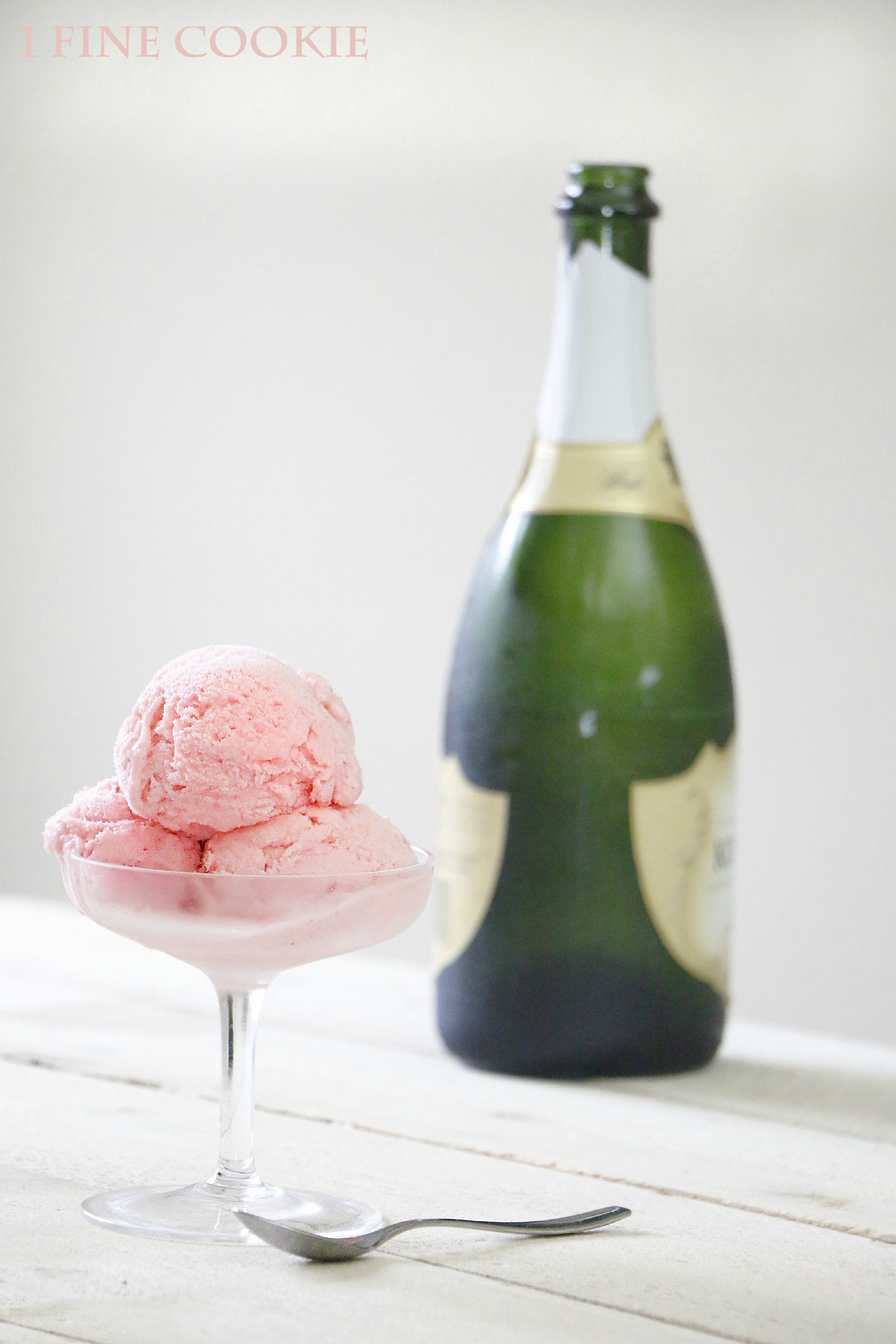 Pink Champagne Ice Cream 1 Fine Cookie, Pink, Champagne, Ice Cream, Cook