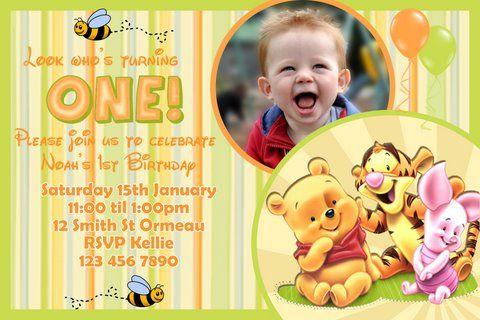 Download Now Winnie the Pooh Birthday Invitations Ideas FREE