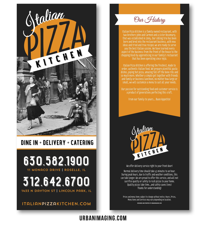 Menu Front And Back (Italian Pizza Kitchen, Chicago) Www.urbanimaging.com