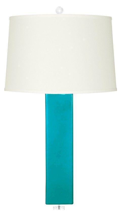 Bungalow 5 Paros Dark Turquoise Lamp | Polka Dot Peacock