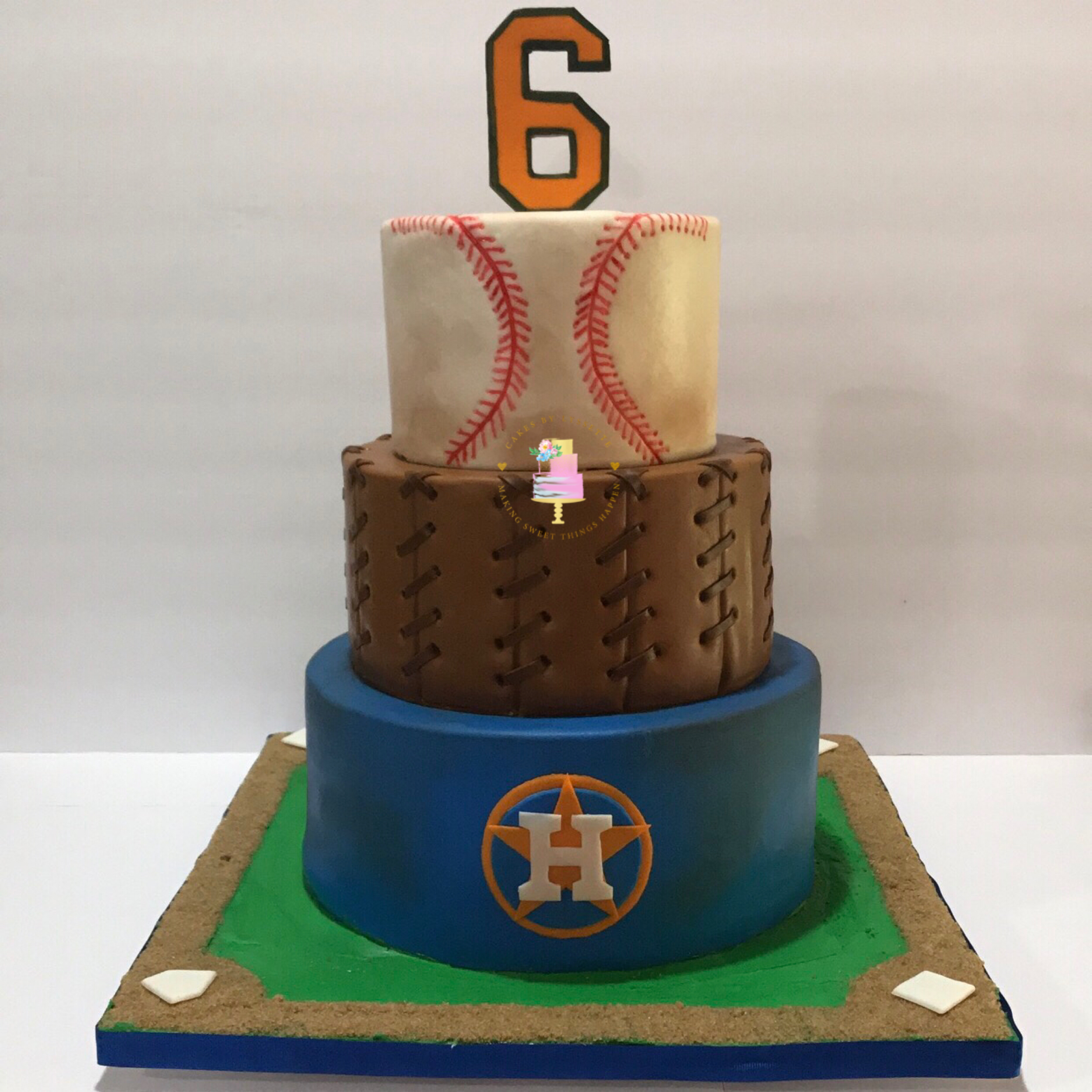 Houston Astros Baseball Cake
