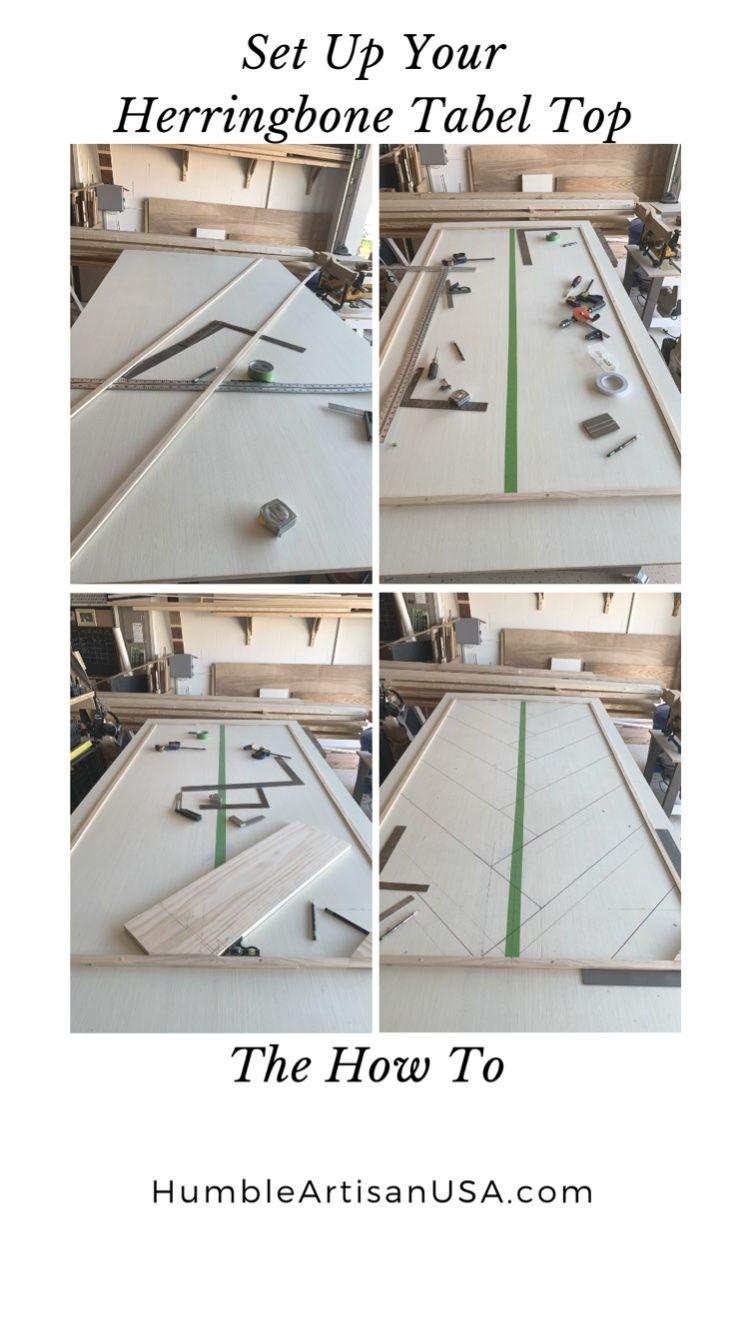 How To Layout A Herringbone Table Top In 2020 Chevron Tisch Diy Esstisch Bauernhaus Esstisch