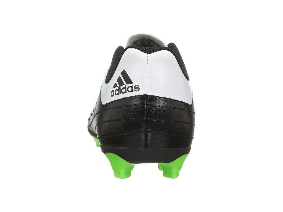 84b40b3c4 adidas Kids Goletto VI FG Soccer (Little Kid Big Kid) Kids Shoes Core  Black Footwear White Solar Green