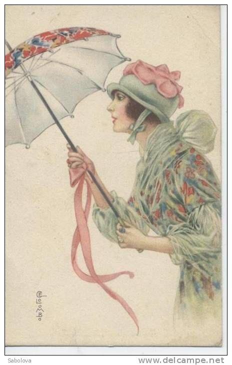 La Vie En Rose Artinya : artinya, Columbo, Postcard, Immagini), Artisti,, Illustrazioni,, Immagini