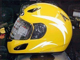 Reflective Motorcycle Helmet Decal Kit Lightning Black Black - Motorcycle half helmet decals