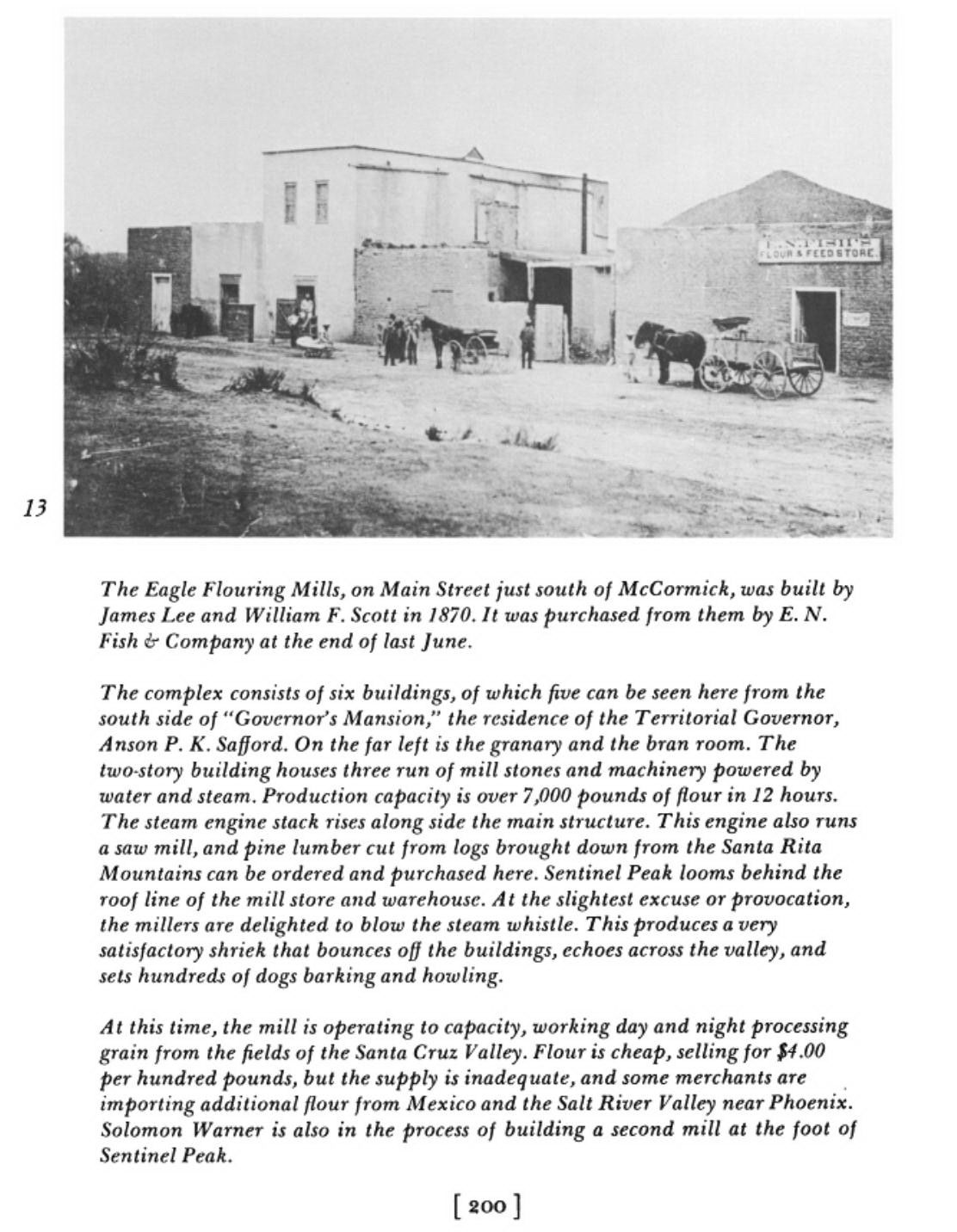 The eagle flouring mills tucson arizona a tour of tucson 1874 the eagle flouring mills tucson arizona a tour of tucson 1874 thomas h aiddatafo Image collections