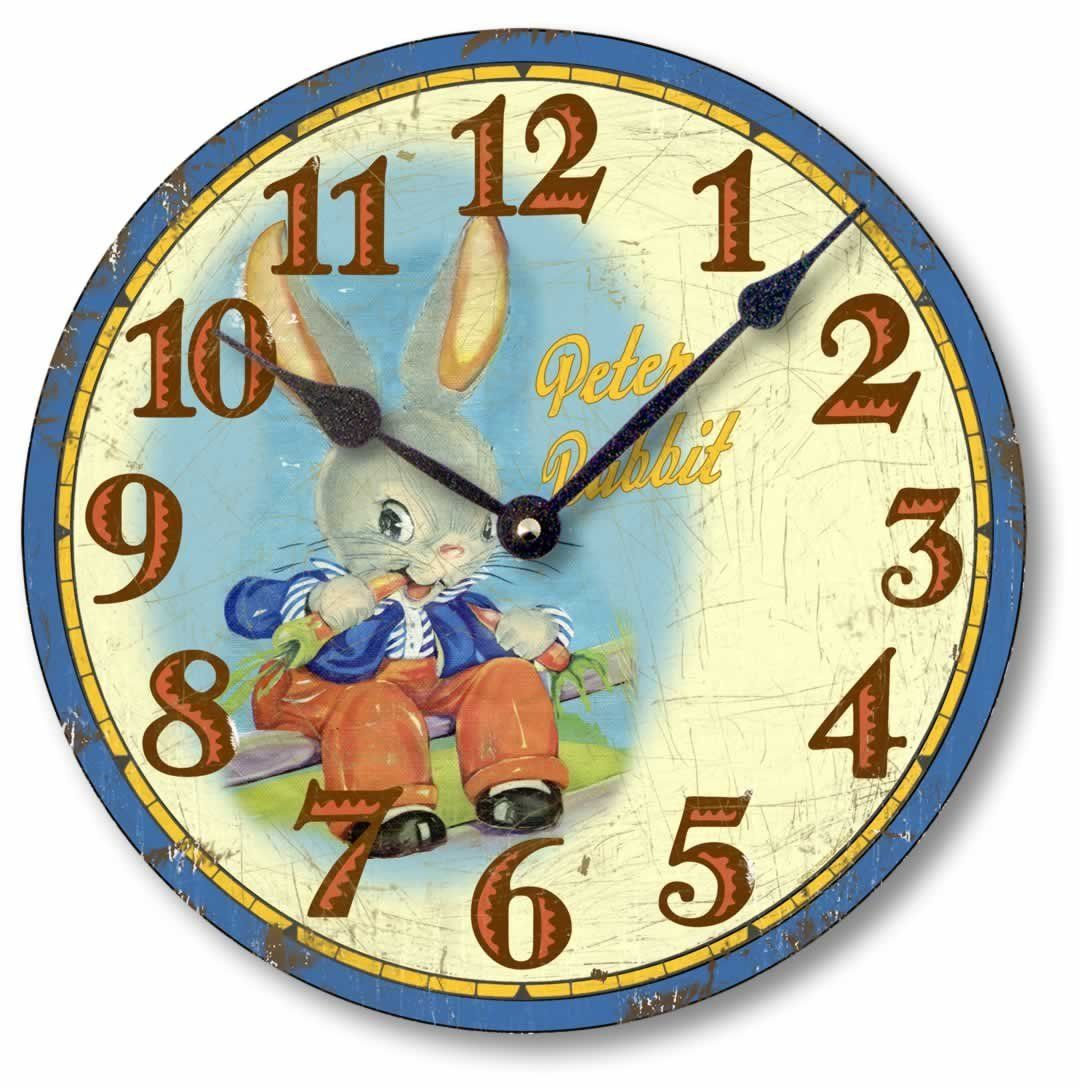 Item C5022 Vintage Style 10.5 Inch Peter Rabbit Children\'s Clock ...