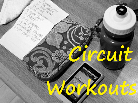 A collection of circuit workouts: Cardio, strength and plyometric moves!