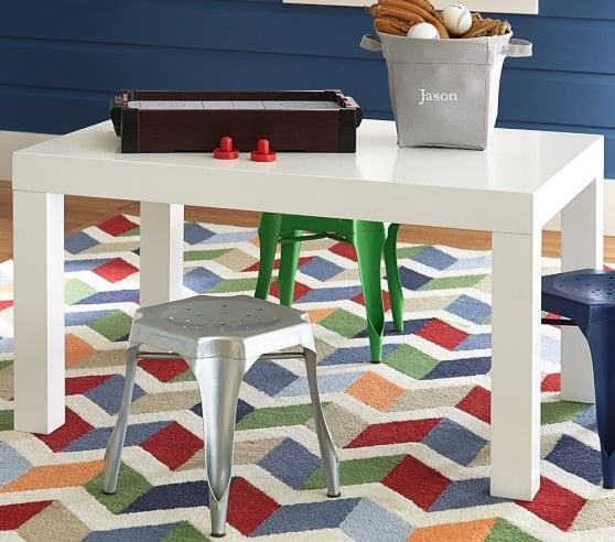Parsons Large Play Table Pottery Barn Kids Toddler Table And