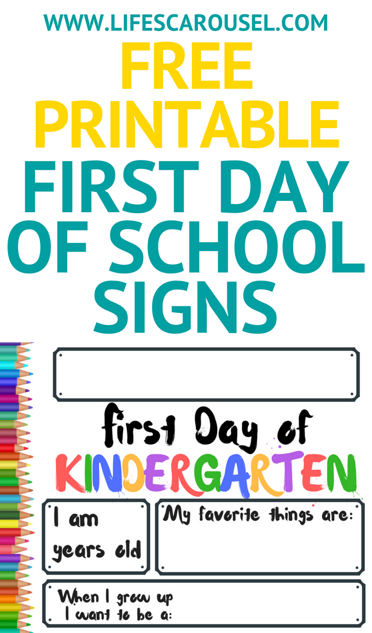 First Day Of School Signs Free Printables 2019 School Signs Last Day Of School First Day Of School