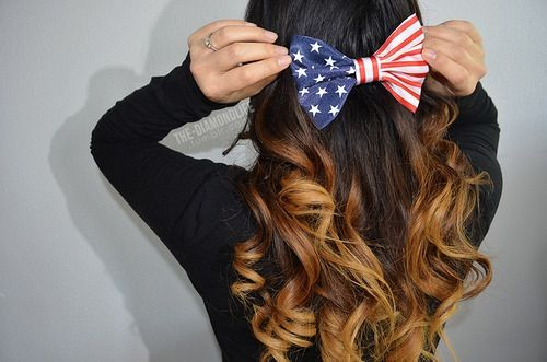 so cute for the 4th of July!!! | Hair bows, Long hair ...
