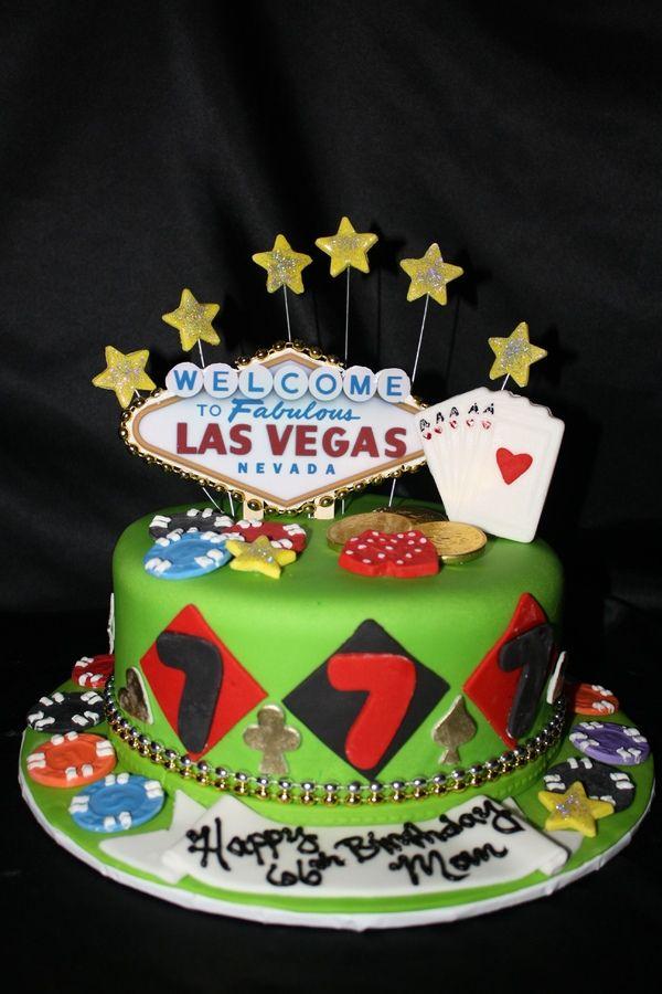 Las Vegas Cake Poker Cakes Casino Gambling Vegas