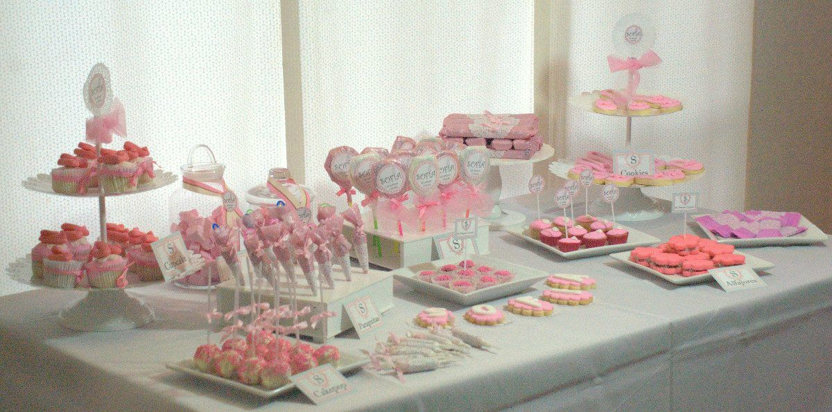 Torta cumpleanos mesa dulce candy bar bautismo baby shower for Decoracion mesas dulces