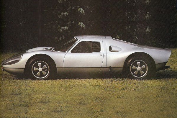 "Porsche 904 GTS (1964)  Units Built: 100  Speed: 135 mph    ""Porsche became the 'Giant Killer' in international racing with Spyders,"" Raskin said.    The new 904 was the first Porsche built of fiberglass. It was also ""street able"" with headlights, wipers and a trunk with a spare tire. It was a very unique design — many of these came to the United States to be raced successfully in the mid-1960s."