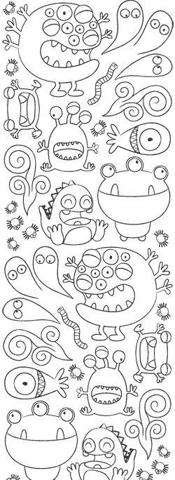 Monstres   Espacio   Pinterest   Pintar, Dibujos and Monstruos